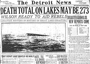 Detroit News 1913 Storm headlines